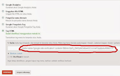 Cara Daftar Blog di Webmaster Tools