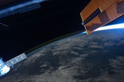 Perseid meteor seen from ISS
