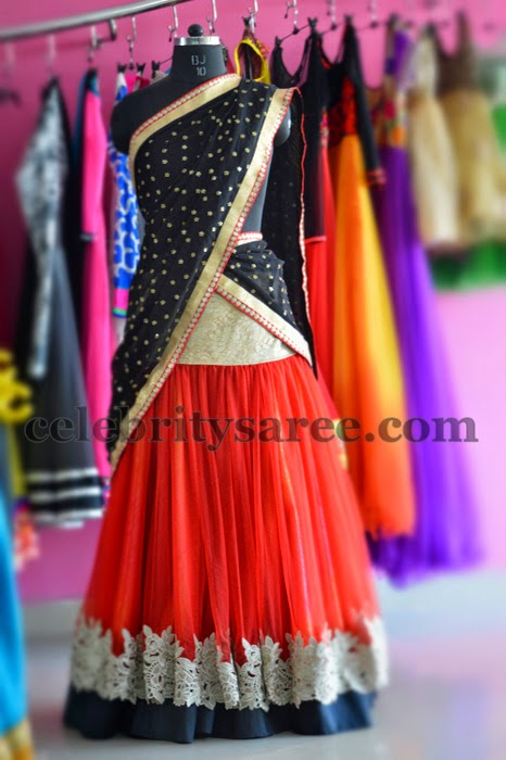 Exclusive Half Sari by Teja Sarees
