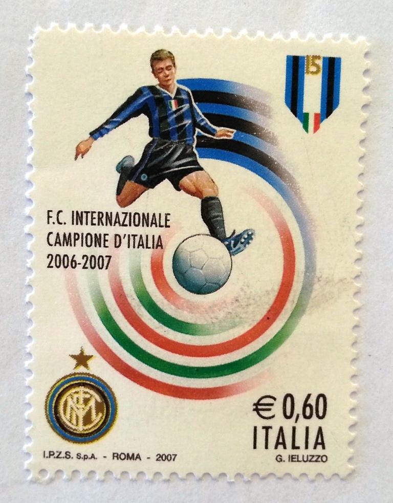 francobollo Inter campione d'Italia 2006-2007