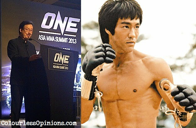 Bruce Lee brother Robert Lee at ONE FC Asia MMA Summit 2013 keynote