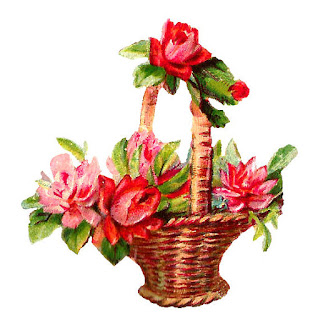 printable flower basket image