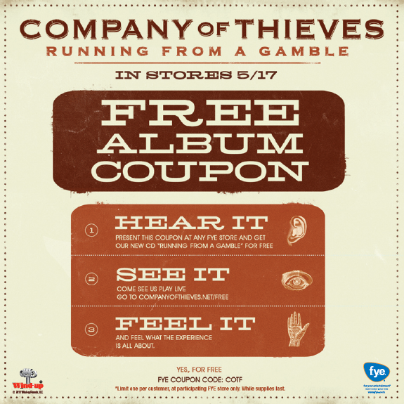 company of thieves running from gamble. FREE Company of Thieves