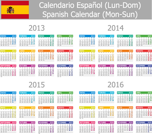 ... 529 · 69 kB · png, Calendario 2013 2014 2015 2016 español - vector