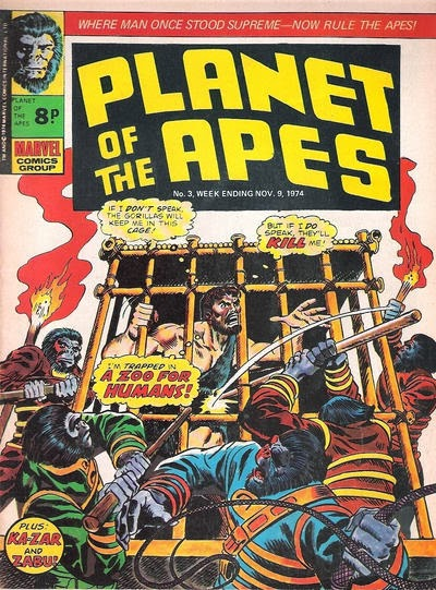 Marvel UK Planet of the Apes #3