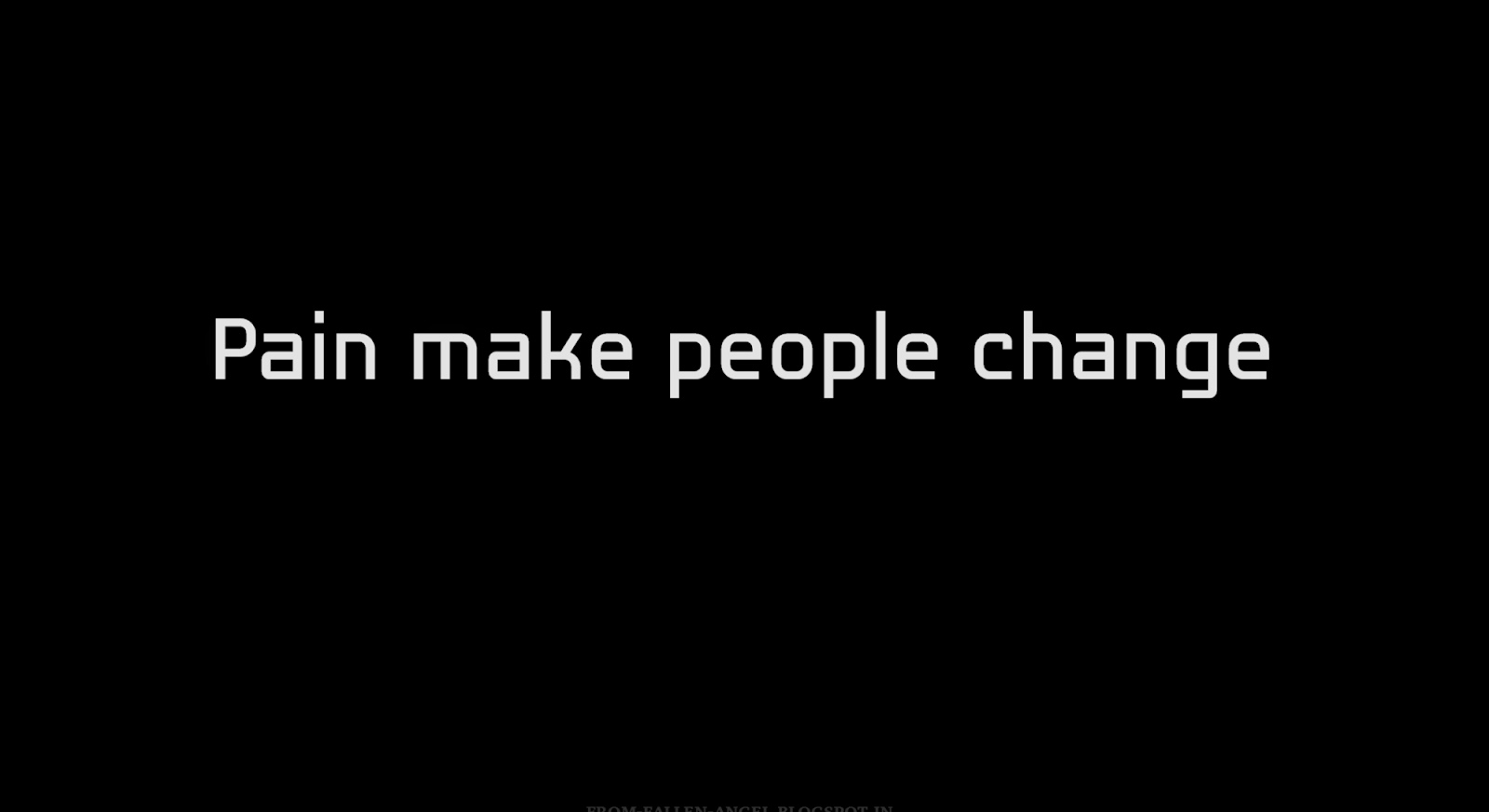 Pain make people change
