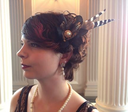 Peaches & Steam Hair Fascinator