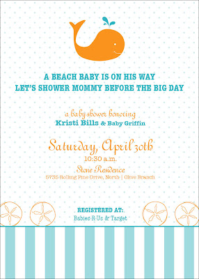 kim trimm stationery design beach baby shower