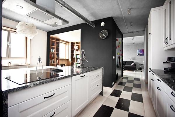 Cocinas en blanco y negro de dise o minimalista ideas for Cocina con electrodomesticos de color negro