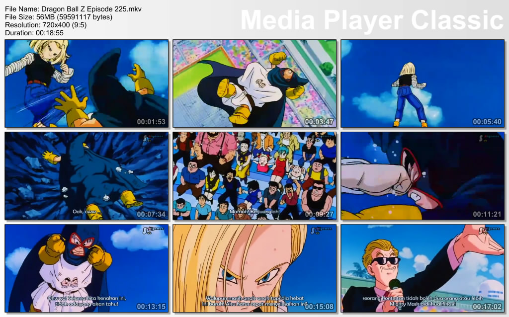 Download Film / Anime Dragon Ball Z Majin Buu Saga Episode 225 Bahasa