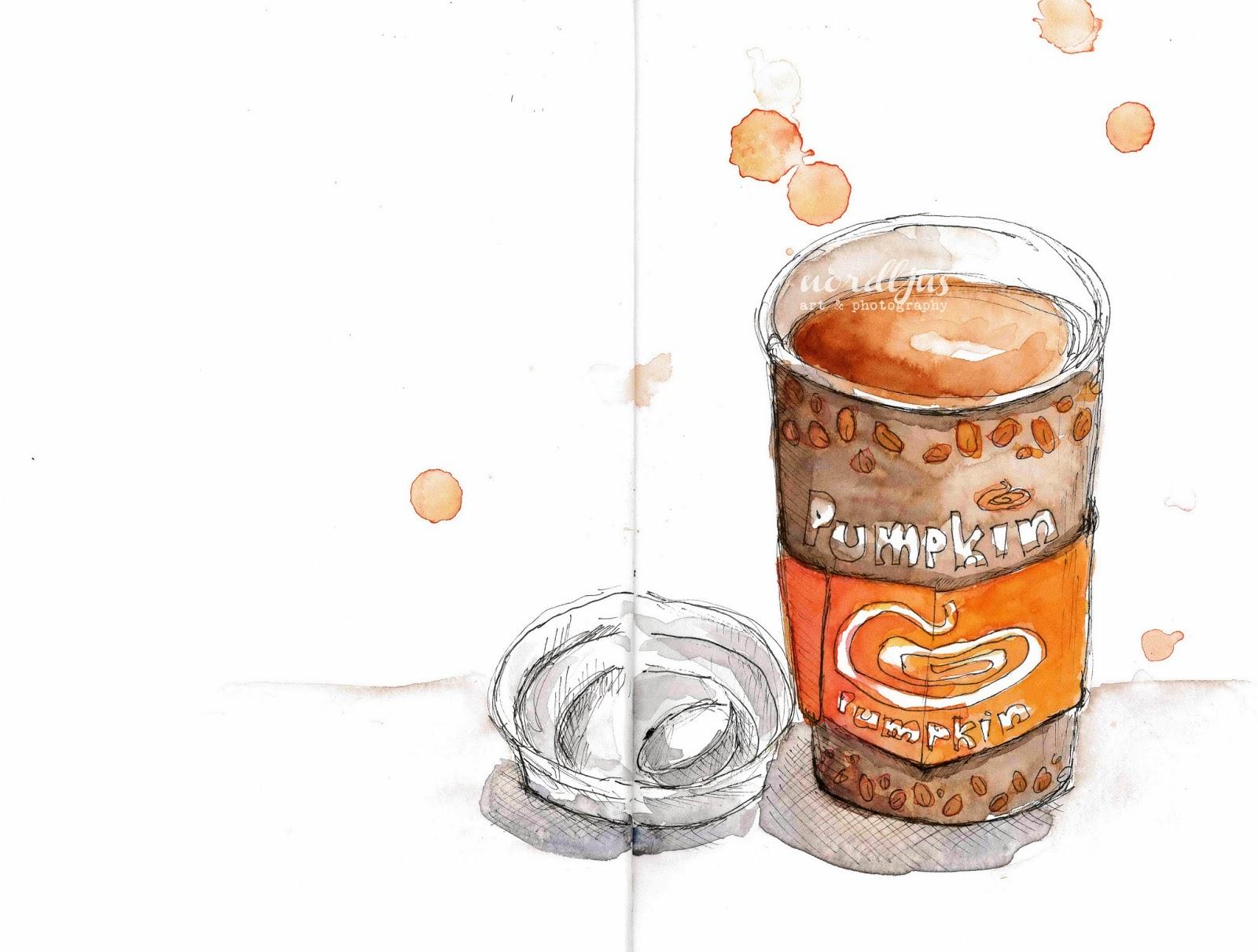 Nordljus pumpkin tea sketch