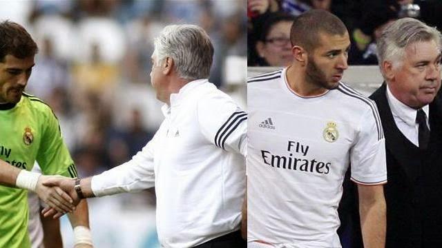 كاسياس مستمر كاساسي و بنزيمة يحرج انشيلوتي مع ادارة ريال مدريد