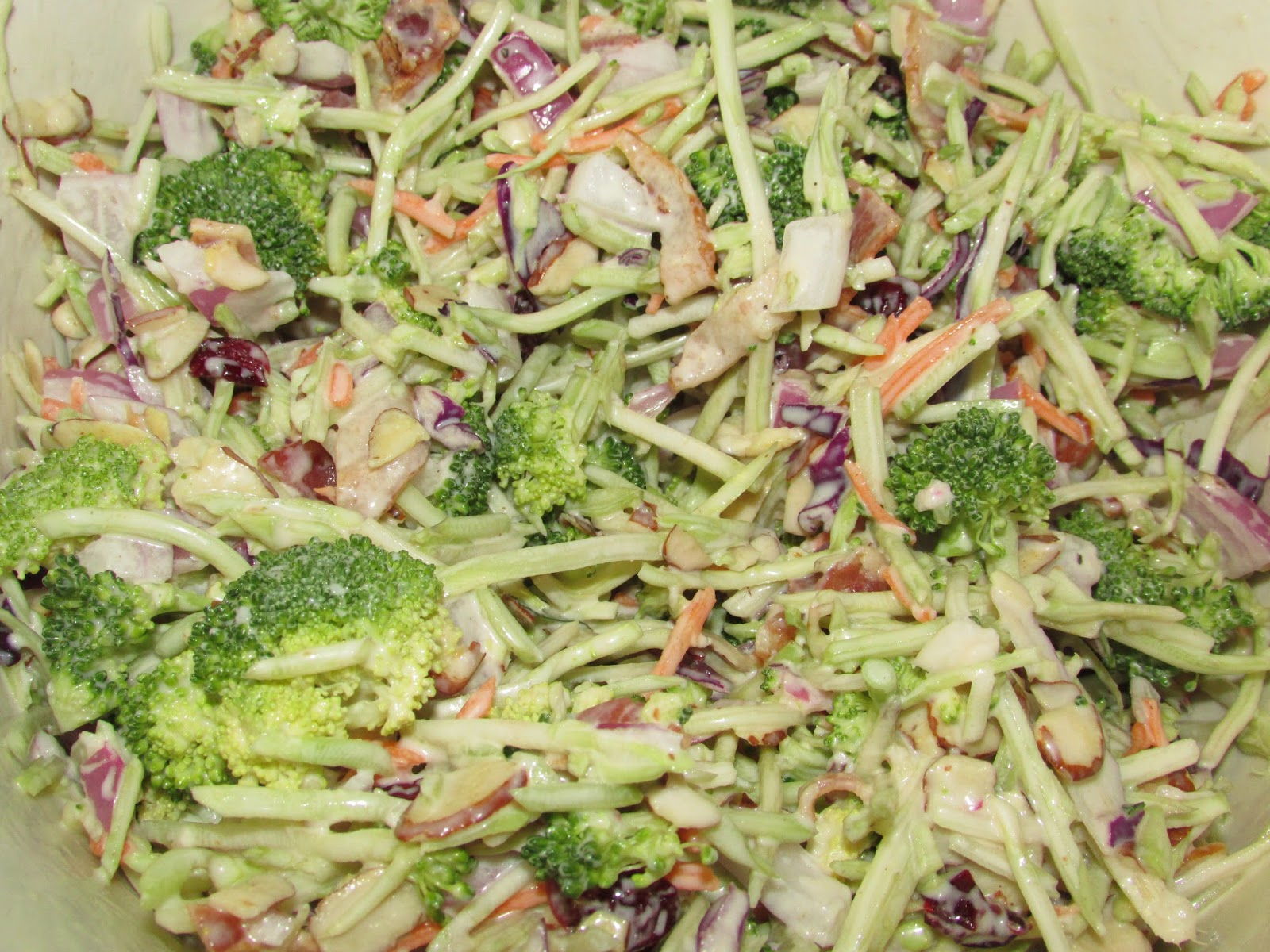 whether you call it broccoli salad or broccoli slaw it is a yummy ...