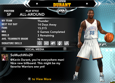 NBA 2K13 Kevin Durant MyCareer Saves Patch