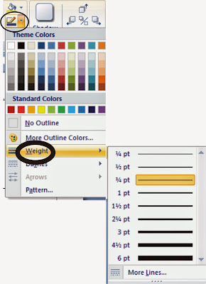Membuat bingkai dengan Page borders dan shape dalam Microsoft Word