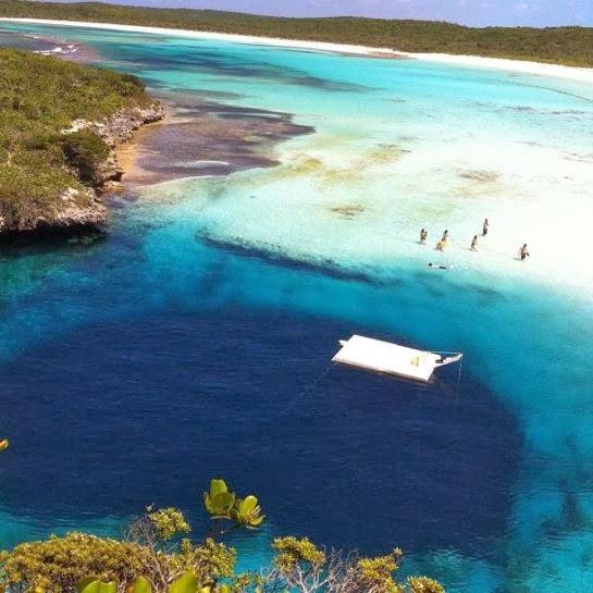 Andros Island blue holes Bahamas