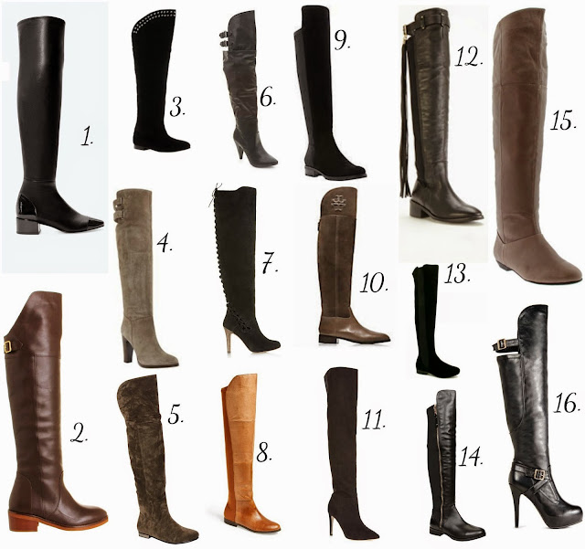 Over The Knee Boots - UK - tall boots - light brown - dark brown - suede - leather - suedette - flats - high heels - grey - black - khaki - Zara - Office - Asos - Dune - Boohoo -  New Look - Topshop - Nordstorm - Tory Burch - Miss Selfridge - SpyLoveBuy - Aldo - Amazon - JustFab - list - best - pick - TeaseFlutterPout