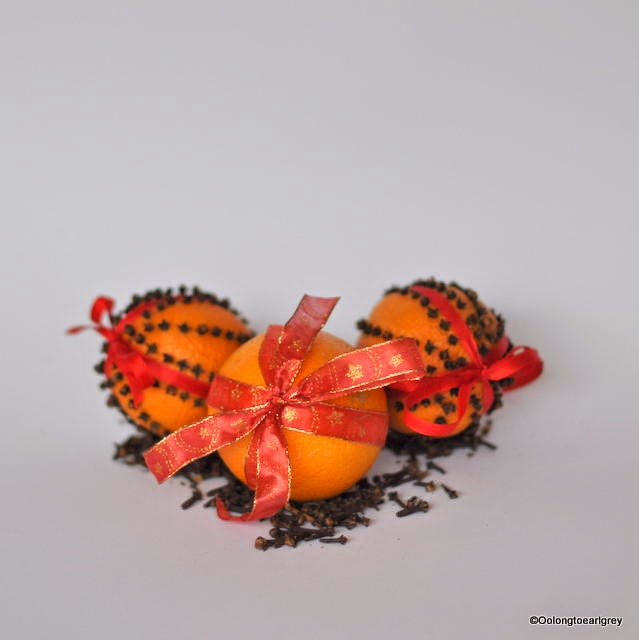Orange and clove Christmas decoration