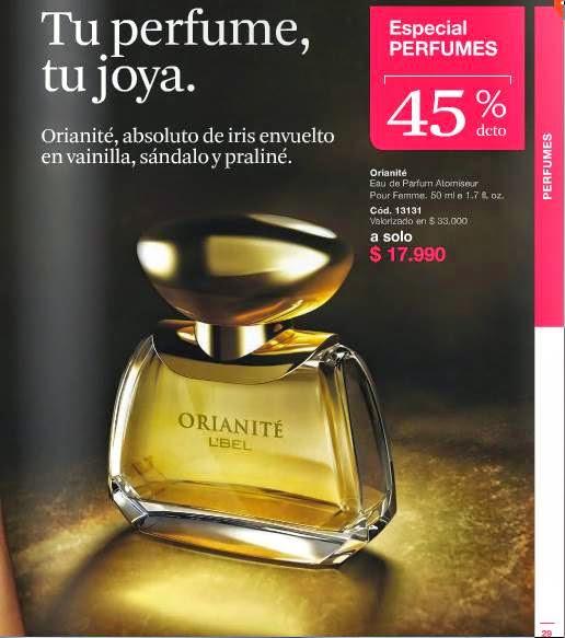 Fragancia Orianite LBel C-3-15 Chile