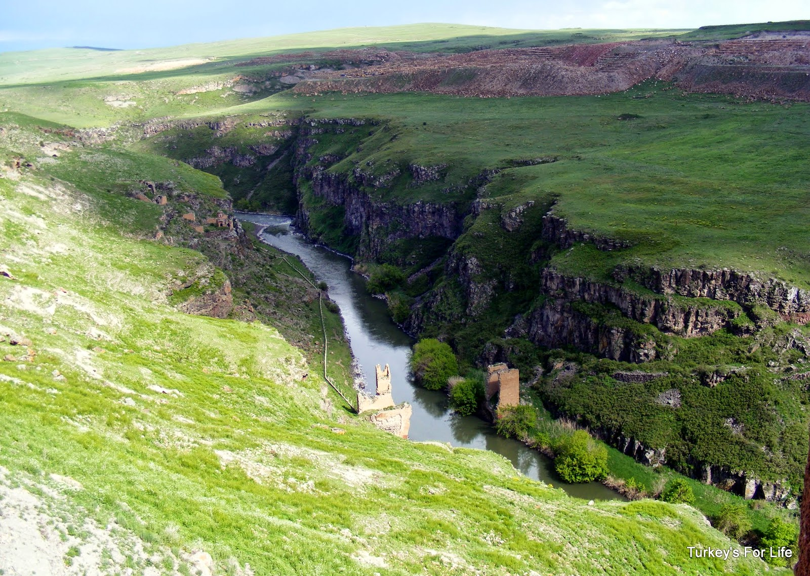Turkish-Armenian Border At Ani, Kars, East Turkey