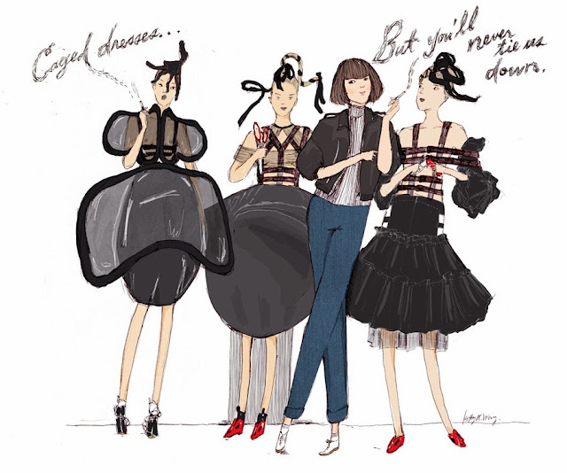 Kitty N. Wong / Rei Kawakubo Commes des Garcons fashion comic