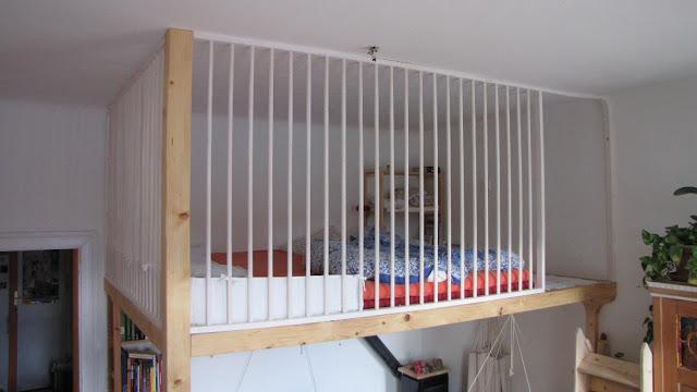 Construction d 39 un lit mezzanine 2 places pour famille - Lit mezzanine blanc 2 places ...
