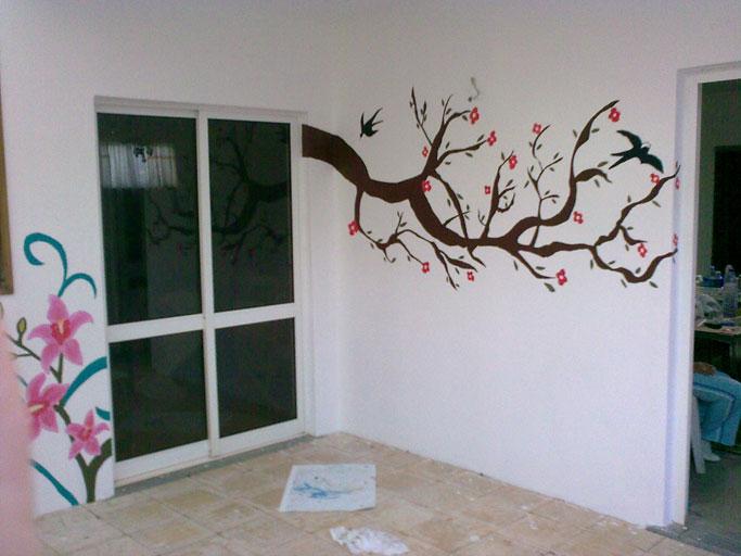 Laufi artes decorativas pintura de paredes com motivos - Pinturas decorativas en paredes ...