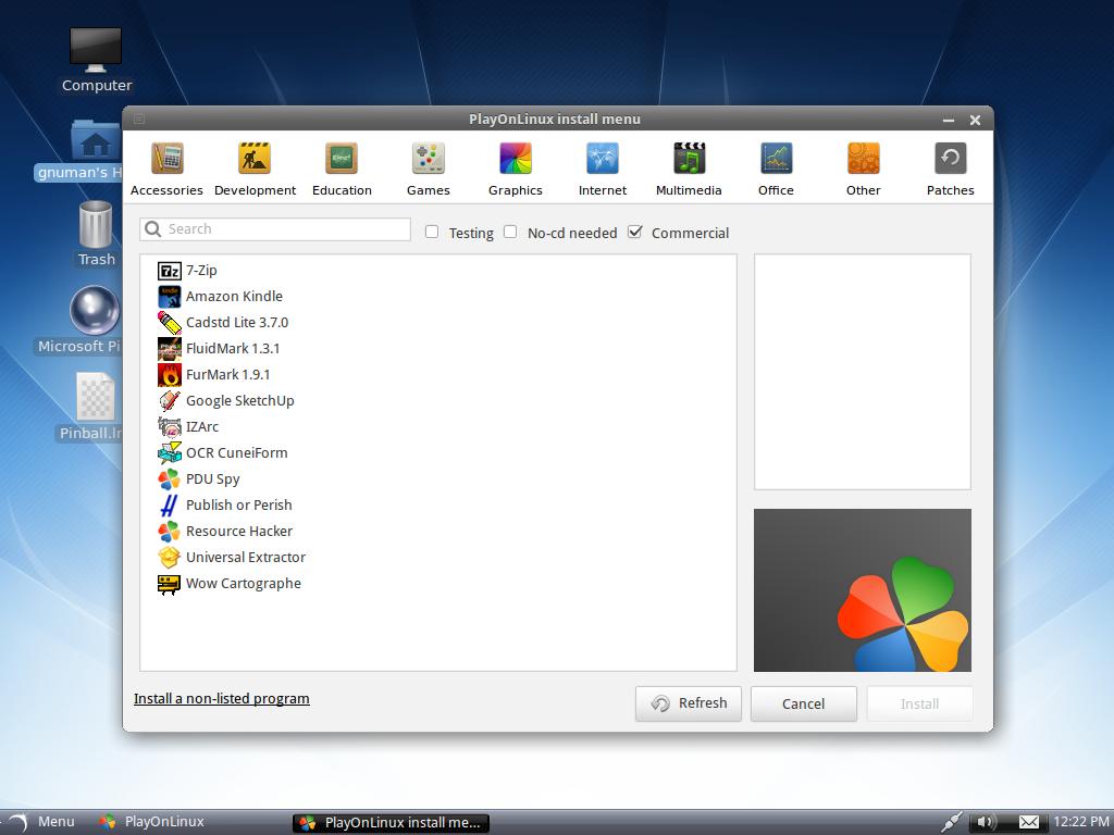 Linux tutorial terminal online playonlinux 426 released you playonlinux 426 released you can install on arch linux debian fedora frugalware and ubuntu baditri Choice Image