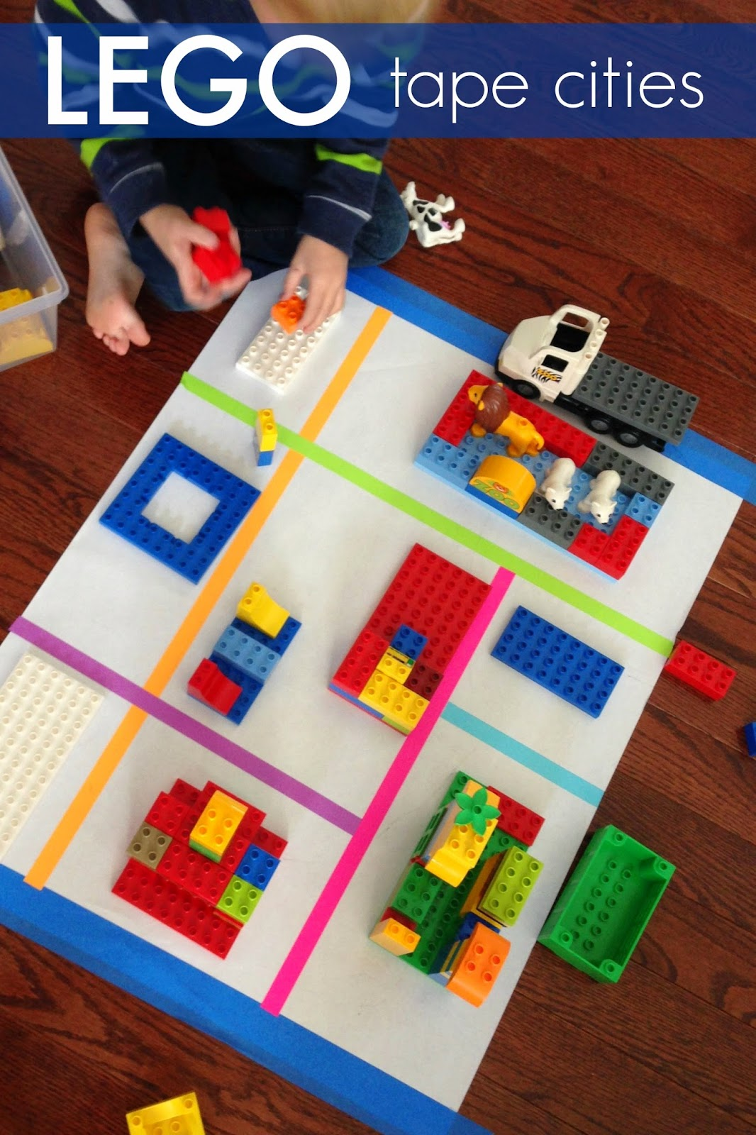 Toddler Approved Tape Cities With Lego
