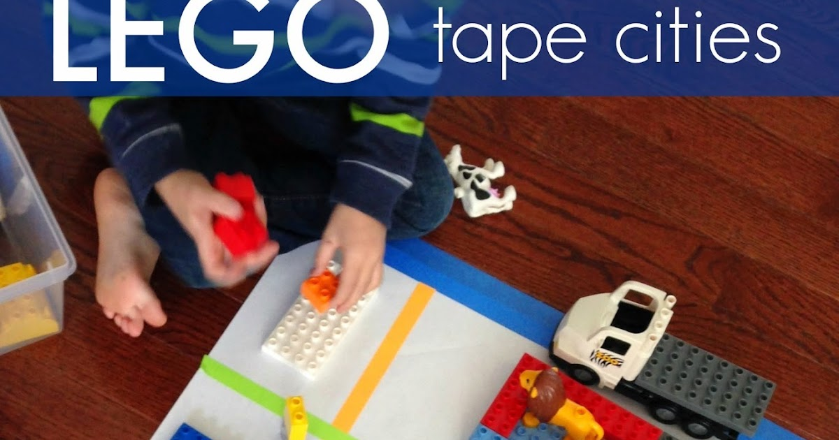 Toddler Approved!: Tape Cities with LEGO