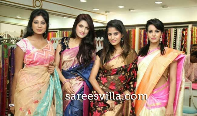 Models During Weavers festival at Singhania