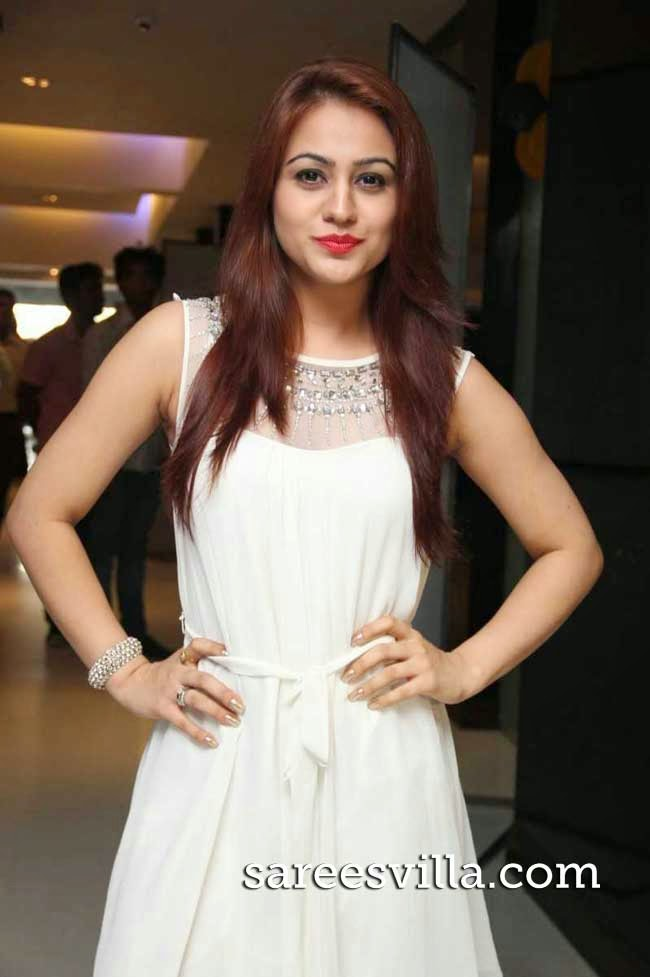 Aksha Pardasany in White Dress