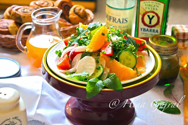 This is one of the best Orange and Mixed Green Salad Recipe. So simple to make and big on flavors. You must try this recipe