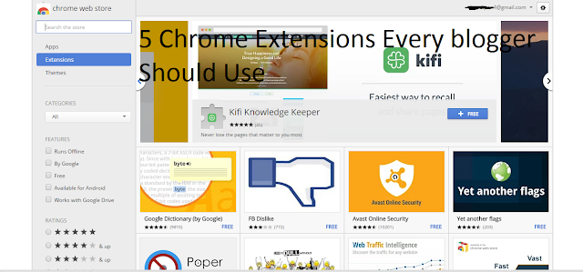 5 Chrome Extensions That Every Blogger Should Use