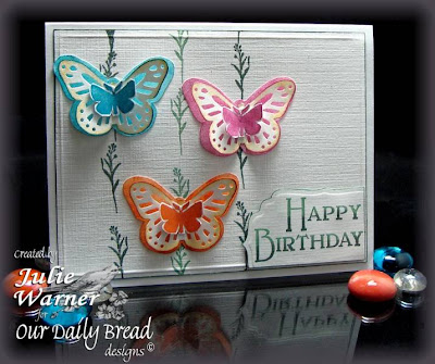 "Our Daily Bread designs ""Dad"", ""Large Butterfly Background"" Designer Julie Warner"