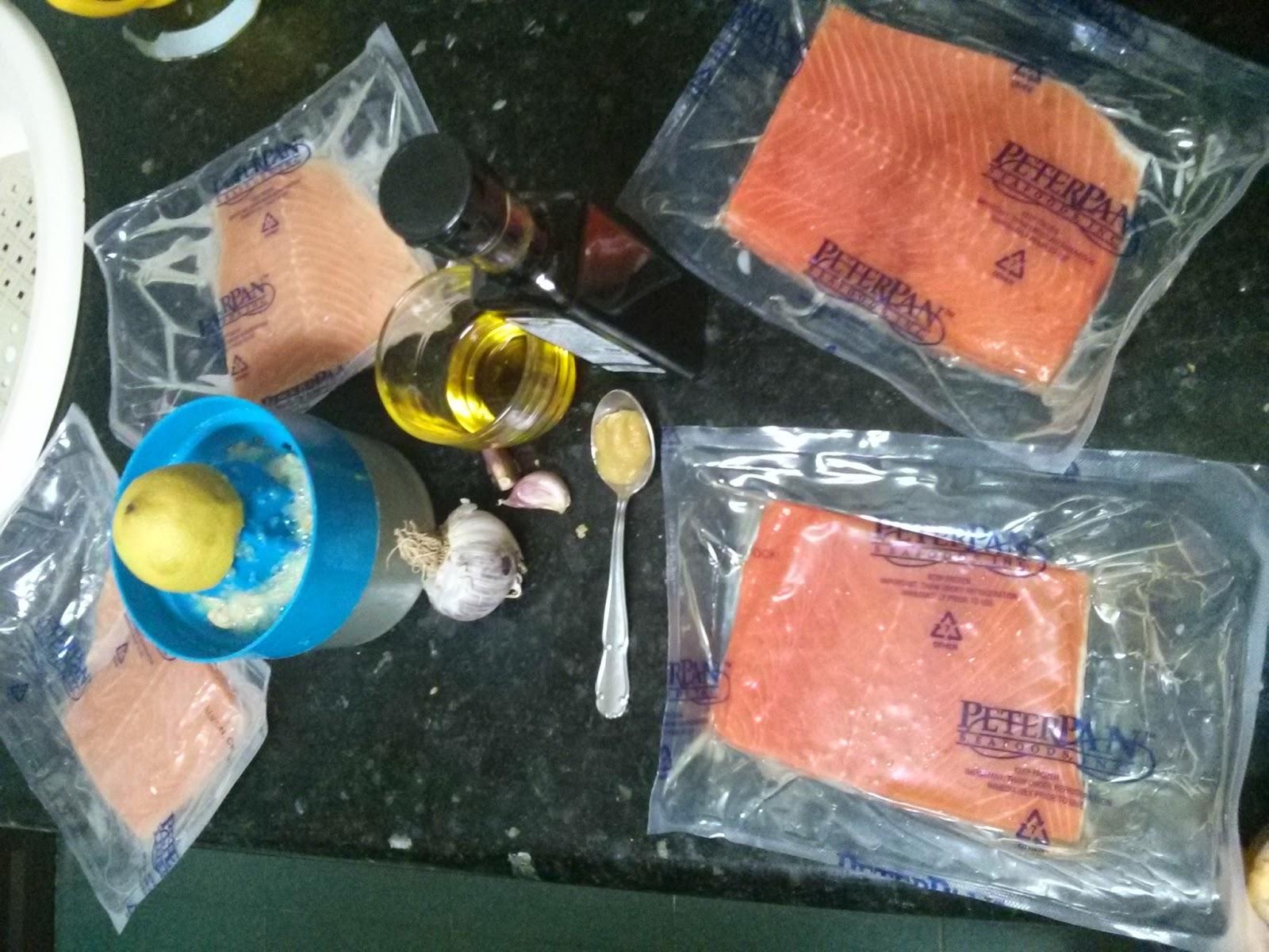 Salmón con salsa de soja y jengibre