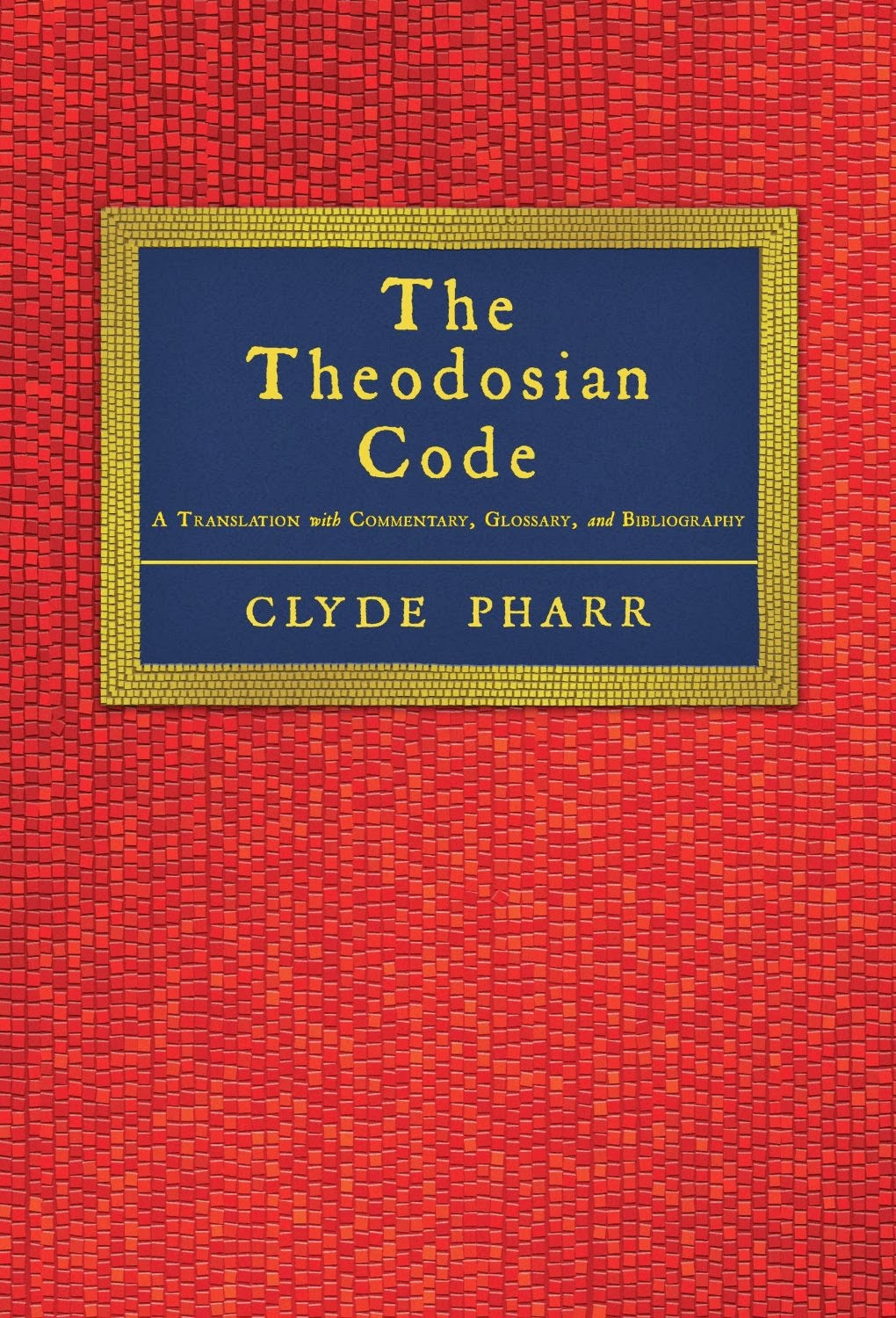 the theodosian code It is a good tradition to start here every year with a post about roman law sometimes a new resource deserves attention, but this year i want to look at a text, the theodosian code, because it will be at the heart of a three-week course at pavia with the title the theodosian code: complilation, transmission.