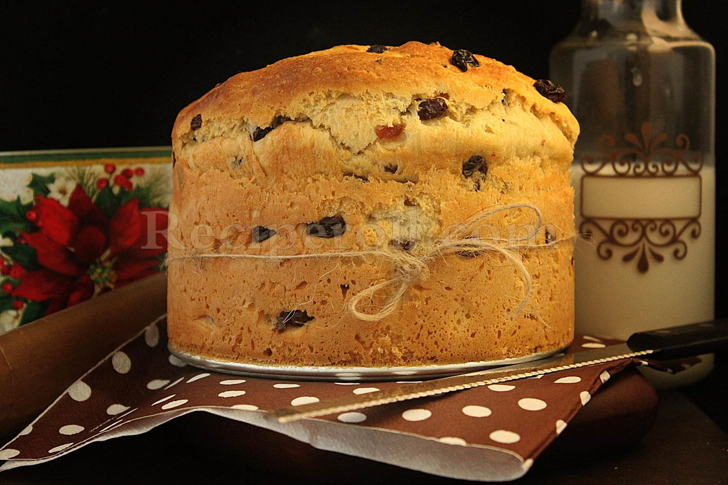 Panettone | Italian Sweet Christmas Bread With Dry Fruits and Nuts ...