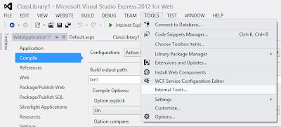 Select External Tools