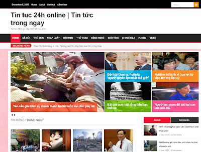 VNews Metro Premium Blogger Template