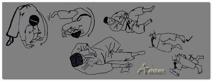 Teknik Dasar Jatuh Menggulung Kedepan Olahraga Judo (Zenpo-Kaiteen)