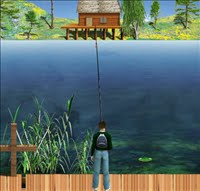 Lake fishing green lagoon fishing games for Lake fishing games