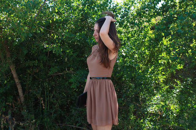 mocha, dress, vestido, inlovewithfashion