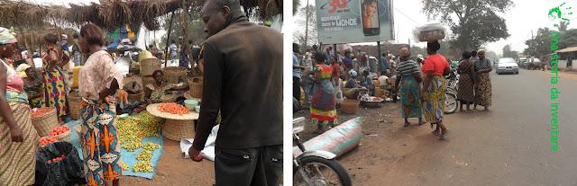 Gli abitanti di Noepé al Mercato, Togo, Africa