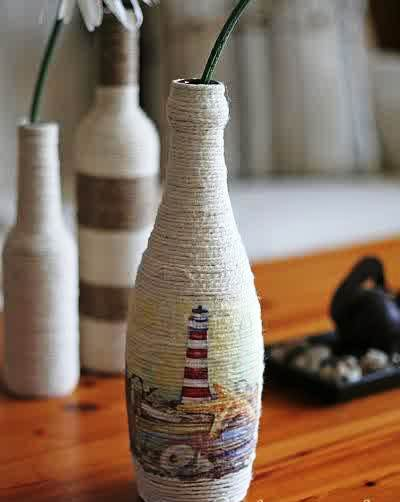 Glass bottle craft ideas projects art craft ideas for Bottle arts and crafts