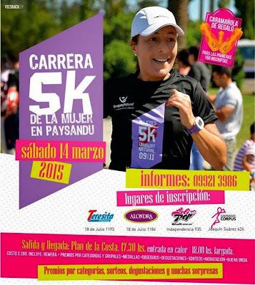5k de la mujer en Paysandú (14/mar/2015)