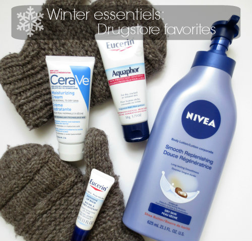 Winter essentiels: drugstore favorites!