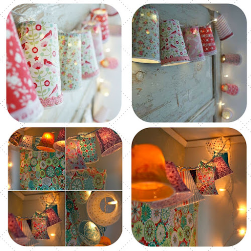 tutorial paper cup fairy lights from Ruususuu and Rebecca's DIY blog