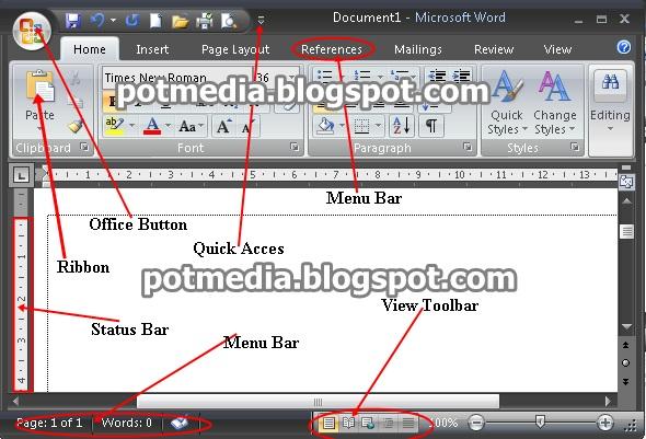 Cara Menjalankan Microsoft Word 2007