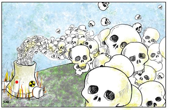 Caricatura periodstica de BONIL Plantas nucleares